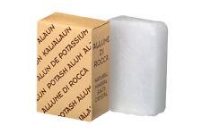Bloque de alumbre de Natural + antiséptica astringente Pre Post Shave Loción. 90 gramos
