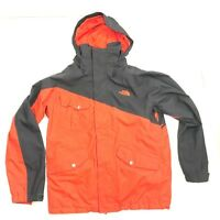 THE NORTH FACE Men's HyVent Orange Gray Long Sleeve Full-Zip Hooded Jacket Sz  M