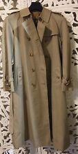 Vintage Burberry Beige Trench Coat Nova Check Wool Liner Size 10 Long