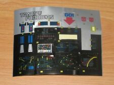 KO Transformers G1 Optimus Prime Partially Used STICKER SHEET US Seller