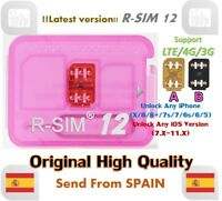 R-SIM12 LTE 4G Nano Unlock Card for iPhone X/8/7/6/5 IOS11.x RSIM R-SIM 12