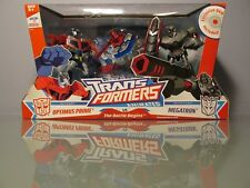 Transformers Animated The Battle Begins Optimus Prime Vs Megatron+DVD New