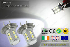 2x H7 Cree Bulbs LED 4500k Xenon White HID Kit Fog Bulbs DRL Lamps W5W 501 T10