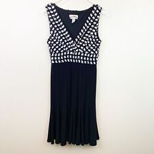 Joseph Ribkoff Dress Fit And Flare Ruffles Women's Size 8 Sleeveless