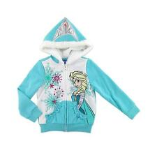 Disney Frozen Elsa Girl Winter Holiday Ruffle Fur Hooded Jacket Hoodie 2T 24M