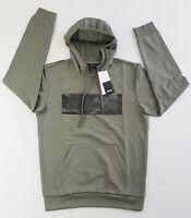 ADIDAS Camo Box Logo Hoodie w/ Kangaroo Pocket, Legacy Green, S, M, L, XL - $55
