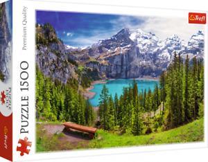 Trefl - 1500 Piece Jigsaw Puzzle - Lake Oeschinen, Switzerland - Brand New