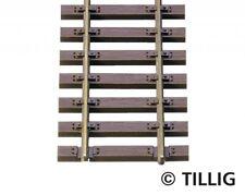 20 x Tillig 85125 Holzschwellenflexgleis 890mm, brüniert, H0, NEU und OVP