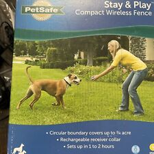 New listing PetSafe Stay & Play Compact Wireless Fence For Dogs And Cats Pif00-12917