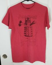 Dr. Who Men's Red Dalek Robot Graphic T Shirt Size Medium Short Sleeve Top