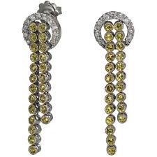 Long Earrings Dangling Earrings Sapphire Earrings Vintage Earring 14k White Gold