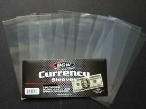 10 Loose BCW Soft Sleeve Regular Dollar Bill Currency Sleeve Protectors Holders