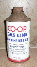 VINTAGE CO-OP GAS LINE ANTI-FREEZE  METAL GAS OIL DISPLAY CAN