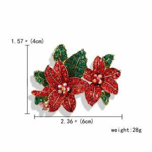 Fashion Bouquet Crystal Rhinestone Pearl Flower Brooch Pin Charm Women Xmas Gift