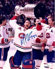 Patrick Roy Signed Montreal Canadiens Stanley Cup Champs 8x10 Photo JSA