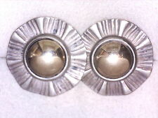 JAMES AVERY. DOME RIBBON EAR POSTS. .925/14K. RETIRED!!! (18003014)