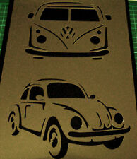 VW Volkswagen Beetle Campervan Car Airbrush Stencil Step by Step Paint Logo Old
