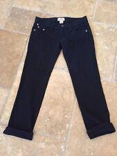 Frankie B SEXY! Black Low Rise Cropped Skinny Stretch Jeans Sz 2 NWOT!