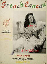 Maria FELIX - FRENCH CANCAN - J.RENOIR - 1954 - FRANCE - RARE  - 3 PHOTOGRAPHIES