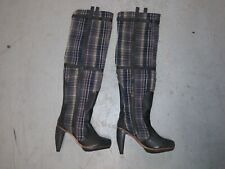 J Shoes Isabelle Long Boots Fabric/Leather Size 6.5