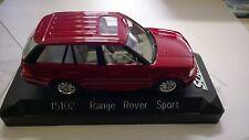 SOLIDO 1:43 AUTO RANGE ROVER SPORT  ROSSA  CON TETTUCCIO TRASPARENTE     15102