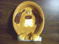 Bloodhound Dog, Oval Snack Dish, Bas Relief, Face,Ears,Feet-3D,Signed By Artist