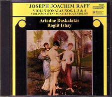 Joseph Joachim RAFF Violin Sonata No.1 3 4 Ariadne DASKALAKIS Roglit ISHAY CD