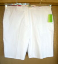 Allyson Whitmore 24W White Golf Cotton Walking Bermuda Shorts Pants
