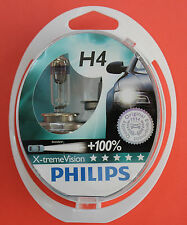 "PHILIPS H4 X-treme Vision +100% Pack of 2 Bulbs 12V 55/60W ""NEW & SEALED"""