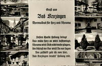 Bad Krozingen Mehrbild Grußkarte 1961 Kurpark Schloßpark Thermalbad Wegweiser
