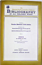 HISTORICAL SOCIETY OF SOUTHERN CALIFORNIA BIBLIOGRAPHY 1884-1957 *SIGNED*1ST*