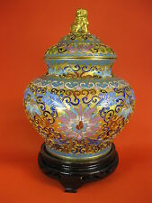 China 19. Jh. Qing Cloisonne old Chinese cloisonné emaille baluster vase Japan