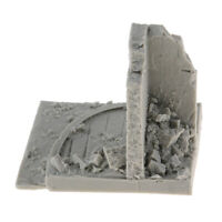 1/35 Resin City Wall Ruins Miniature Model WWII Diorama Layout Unpainted Kit