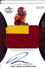 nelson agholor rc rookie draft auto jersey patch usc trojans 2C college 3/10 15