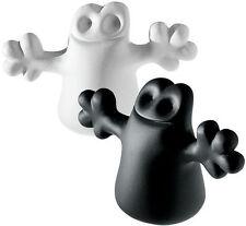 "A di Alessi ""Carlo"" Set of 2 Little Ghost Bottle Cap / Stopper - Black & White"