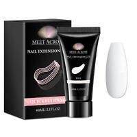 MEET ACROSS 60ml Quick Extension Building Gel Nails Manicure Soak Off Salon Tool