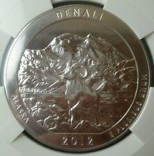 2012 25c Denali National Park 5oz Silver Quarter Dollar NGC MS69