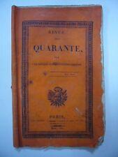 REVUE DES QUARANTE [FREDERIC DEGEORGE] 1821 TERRY TRES RARE