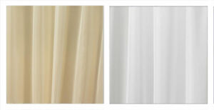 Plain Unfinished Voile Fabric by the Metre Ivory 150cm Wide UK Seller✔