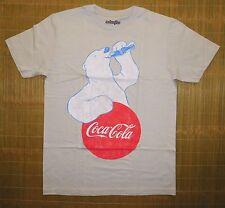 Coca-Cola Vintage Graphics Adult Mens tee Shirt sz MED Polar Bear Logo Coke