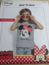 Disney Minnie Mouse Girls/Kids T-Shirt/TShirt/Top  Age 4-6 Years  TESTED QUALITY