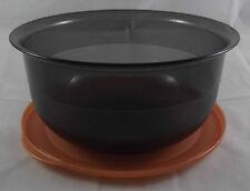 Tupperware C 23 mittlere Tafelperle Schüssel 2,1l Schwarz Transparent Kupfer Neu