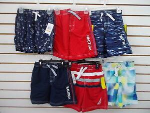 Boys Nautica $32-$34 Assorted Swim Trunks Sizes 4, 5/6, 7, 7X & 18/20