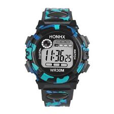 Kids Waterproof Children Boys Digital LED Sports Watch Alarm Date Watches