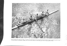Equipe Hans Eller rameur Jeux olympiques d'été de Los-Angeles USA GRAVURE  1932