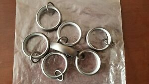 Restoration Hardware Medium Estate Loop Rings (7 Total), Antique Nickel
