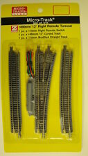 MICRO-TRAINS {99040915} 13-Degree Right  Remote Turnout Z SCALE YANKEEDABBLER