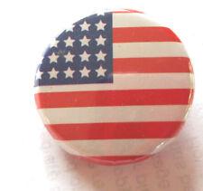 Stars & Stripes - USA -   Button Badge