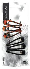 Basicare-Mediano Negro Caparazón De Tortuga clips a presión (4.8 CM) (paquete de 6)