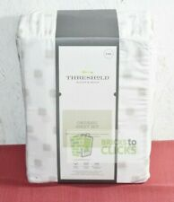 Threshold- Organic Cotton Printed King Sheet Set 300 Thread Count